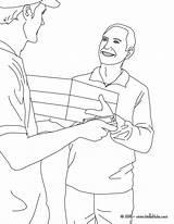 Colorear Coloring Cartero Coloriage Office Colorir Postman Facteur Dibujos Dibujo Desenho Hellokids Entregando Carteiro Um Pacote Carteros Colorier Oficios Gratuit sketch template