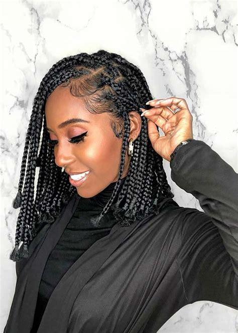 short box braid hairstyles perfect  warm weather