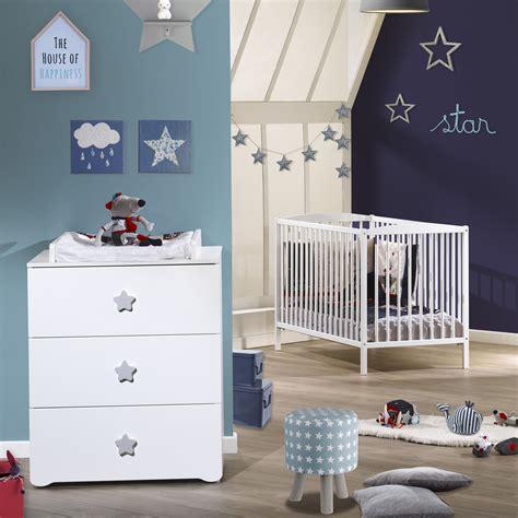 chambre bébé lit commode chambre bébé duo basic lit à barreaux 60x120cm blanc