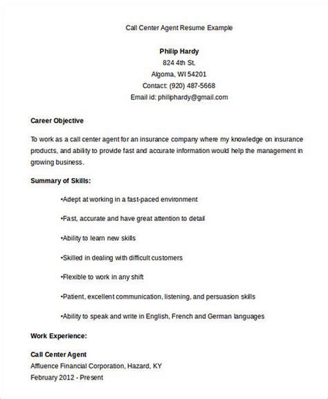 call center resume  key success   applicants