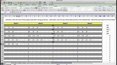 custom excel template  strength coaches youtube