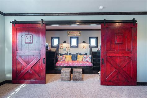 creative kids rooms  space savvy sliding barn doors