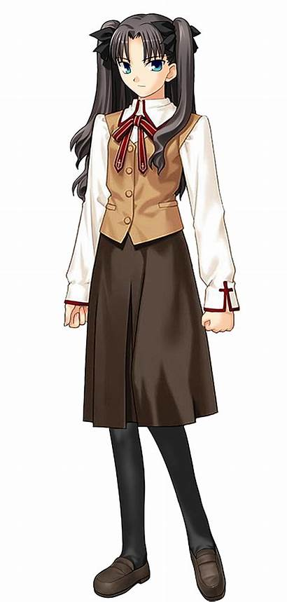 Rin Tohsaka Night Uniform Wikia Fate Stay