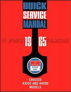 1965 Buick Skylark Gran Sport Repair Shop Manual Reprint Supplement
