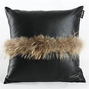 coussins pour canape en cuir promotion achetez des With coussin canapé cuir noir