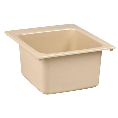 mustee 17 in x 20 in fiberglass self utility sink in bone 11bn the home depot