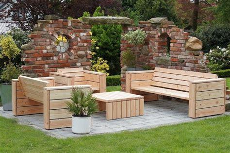 Garten Lounge Möbel Holz by Loungem 246 Bel Gartenm 246 Bel Set Aus Wetterfestem Holz