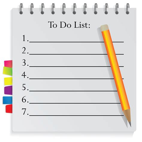 todo checklist get organised with a to do list