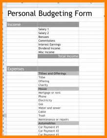 Household Budget Sheet Template 7 Free Budget Forms Monthly Budget Forms