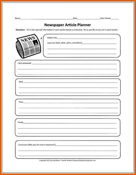 Newspaper Article Template The 25 Best Newspaper Article Template Ideas On