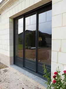 porte fenetre 3 vantaux bois 6 menuiserie pelletier 187 With porte fenetre alu 3 vantaux