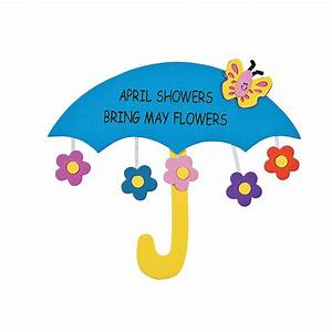 April Showers Bring May Flowers Sign Craft Kit - Oriental