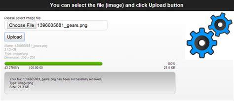 pure html5 file upload