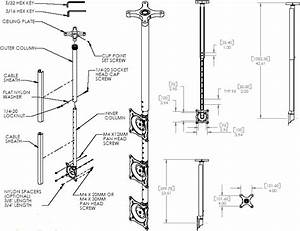 chief fhpvb small single display ceiling mount kit With tv mount wiring kit