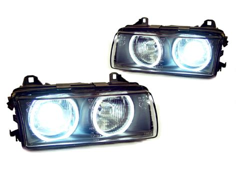 Depo Bmw E36 Ccfl White Angel Eyes Projector Black Housing