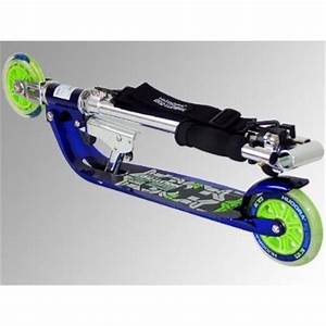 HUDORA Big Wheel BC 125 Scooter blau neon Skate Roller