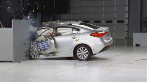terrifying car crashes crash test revealed by insurance institute for highway safety