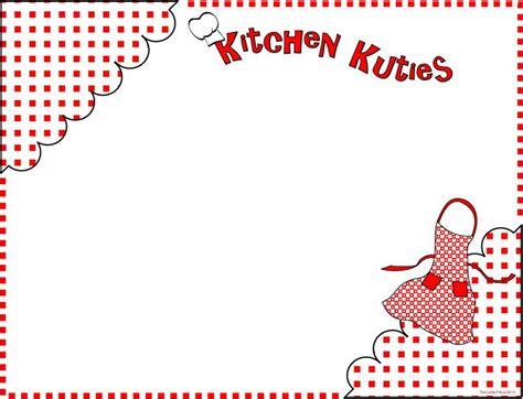 kitchen clip art borders google search recipe cards