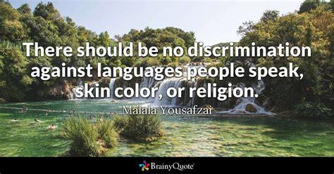 discrimination  languages people