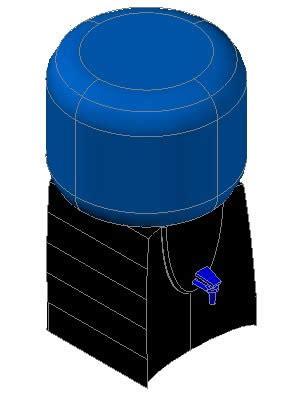 dispense autocad water dispenser in autocad cad 228 39 kb