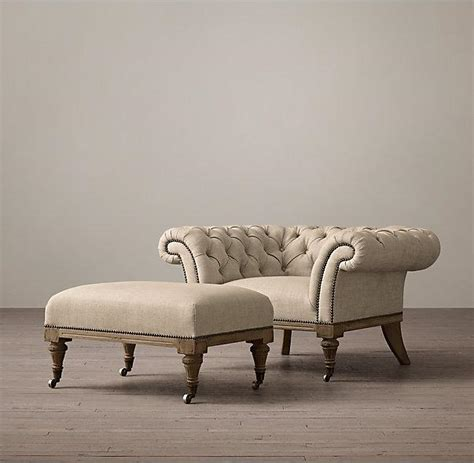 Ottomans And Footstools by Upholstered Chesterfield Small Ottomans And Footstools