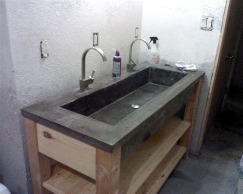 concrete bathroom sink diy concrete sink crab remodeling