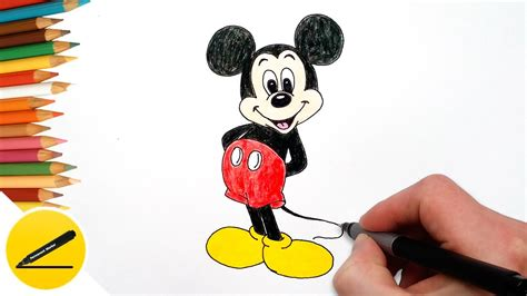 draw mickey mouse step  step easy drawing