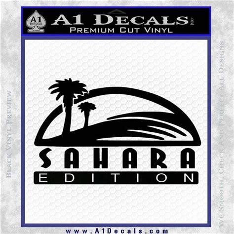 jeep wrangler sahara logo jeep wrangler sahara edition fender decal sticker 187 a1 decals