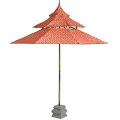 Pagoda Style Patio Umbrella by Chinoiserie Chic June 2009