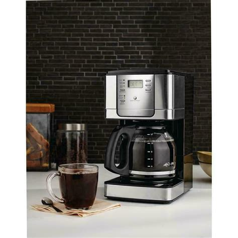 It's simple, programmable, and brews five cups, plus it's totally unoffensive sitting on a. MR COFFEE JWX Series 12-Cup Programmable Stainless Steel