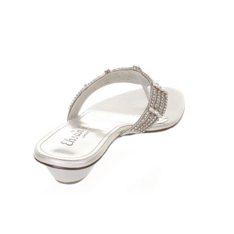 flat silver shoes womens flat diamante mule sandals prom shoes