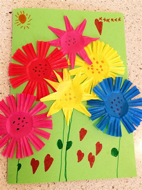 summer bouquet greeting card craft skip to my lou 920   Kids summer craft ideas