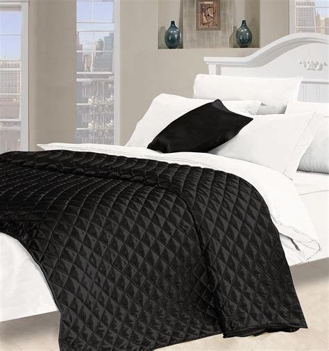 Black Quilts And Coverlets by Black Quilted Bedspreads Desire Faux Silk Bedspread In