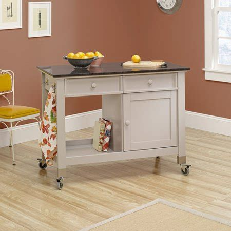 Sauder Original Cottage Mobile Kitchen Island, Cobblestone