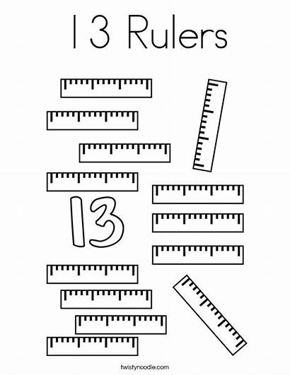 Coloring Rulers Number Ruler Pages Preschool Noodle