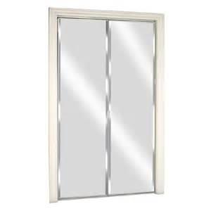 custom interior doors home depot shop reliabilt glass mirror flush mirror bi fold closet