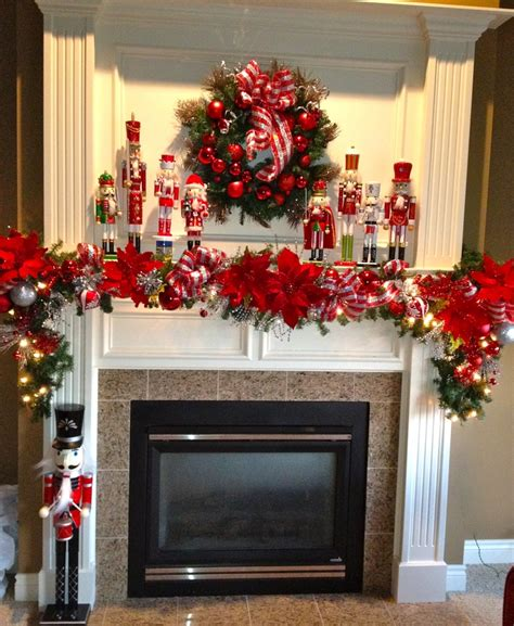 christmas mantle decorations ideas  pinterest