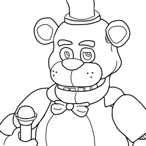 Golden Freddy Kleurplaat by Nightmare Golden Freddy Coloring Coloring Pages