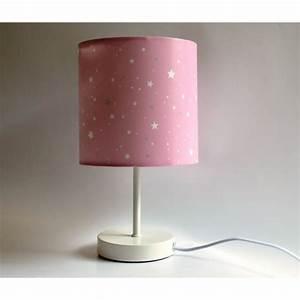 Abat Jour Rose : lampe de chevet abat jour rose clair toil achat vente lampe de chevet abat jour r cdiscount ~ Teatrodelosmanantiales.com Idées de Décoration