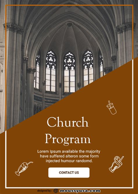 10+ Church Program free template in PSD | Mous Syusa