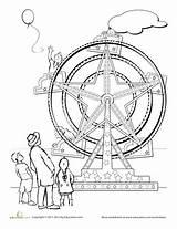 Wheel Ferris Coloring Axle Worksheets Worksheet Education Fair Pages Template County Preschool Sketch Templates sketch template