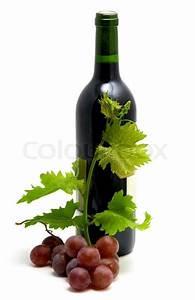 Pflanze In Flasche : flasche wein mit traubensaft bl tter und reben stockfoto ~ Articles-book.com Haus und Dekorationen