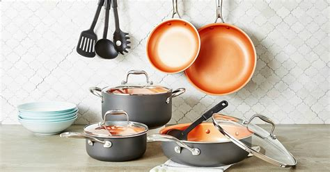 cookware copper crux piece hip2save shipped regularly macy