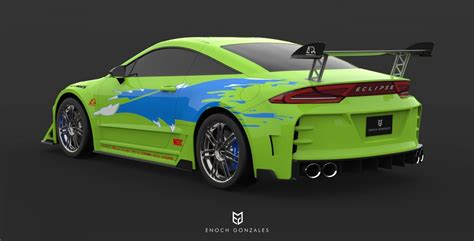 2020 Mitsubishi Eclipse R by 2020 Mitsubishi Eclipse Coupe Fast And Furious Imagined