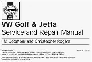 Vw Golf  U0026 Jetta Service Manual