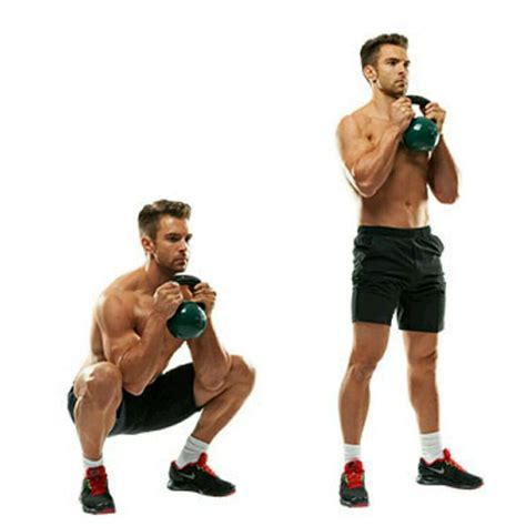 goblet squat kettlebell exercises squats exercise workout body step target core intense give which skimble description