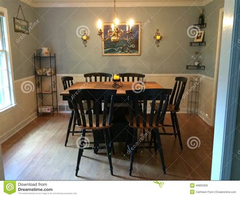 dining room with bar height table and original