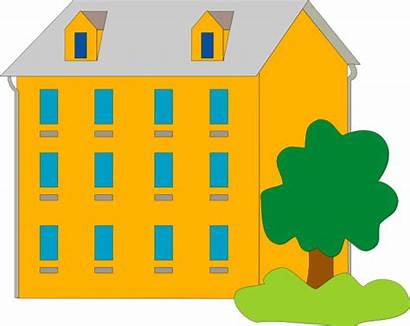 Apartment Clipart Clip Building Orange Cliparts Apartments