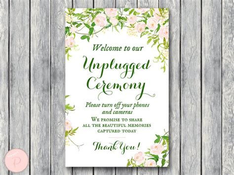 blush pink wedding signs