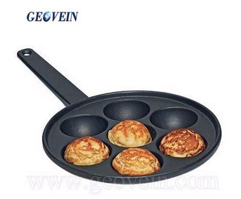 geovein european style nonstick   holes pancake pan cast iron bake pan  cooking eggs